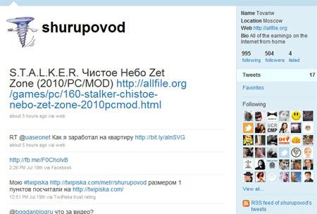 Пока что Twitter не так популярен у русскоговорящей аудитории