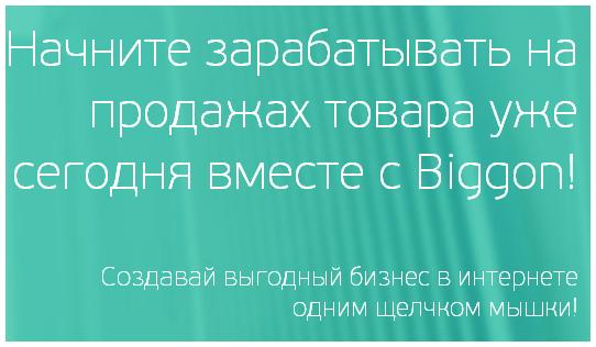Создание собственного интернет-магазина на Biggon.ru