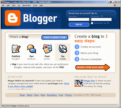 Первые блоги на Blogger