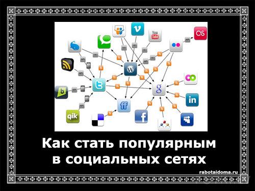 Как стать популярным в социальных сетях Интернет